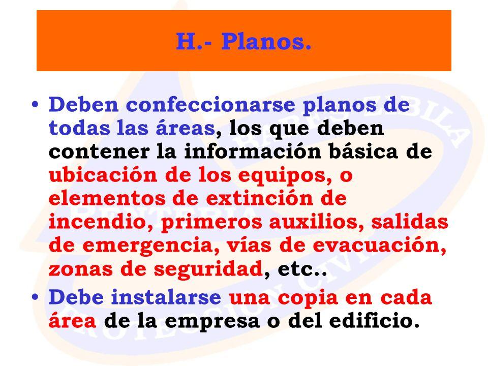 H.- Planos.