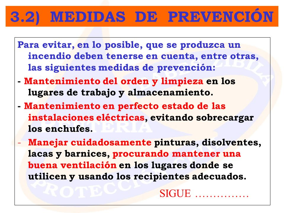 3.2) MEDIDAS DE PREVENCIÓN