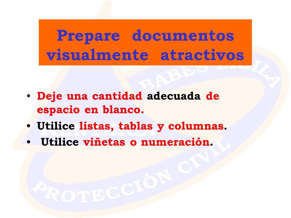 Prepare documentos visualmente atractivos