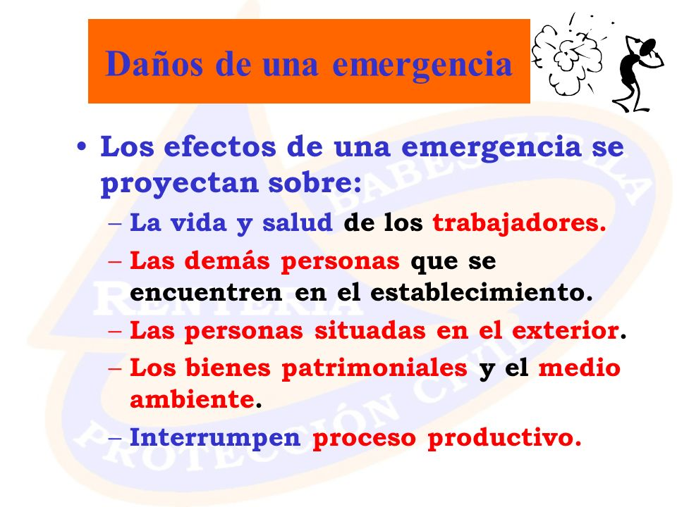 Daños de una emergencia