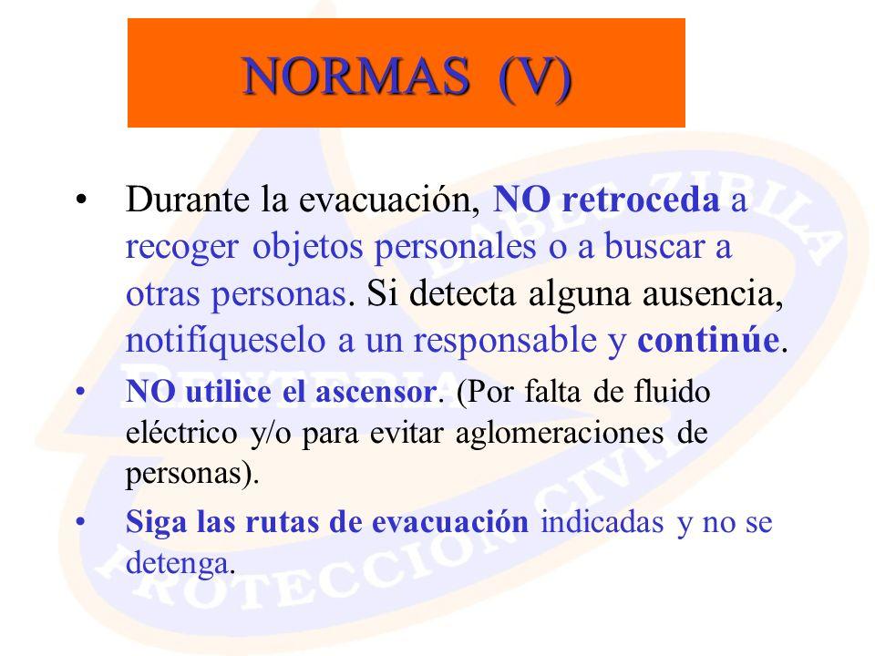 NORMAS (V)