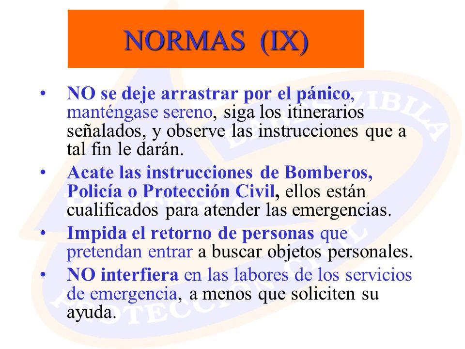 NORMAS (IX)