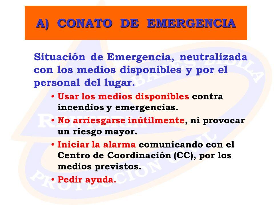 A) CONATO DE EMERGENCIA