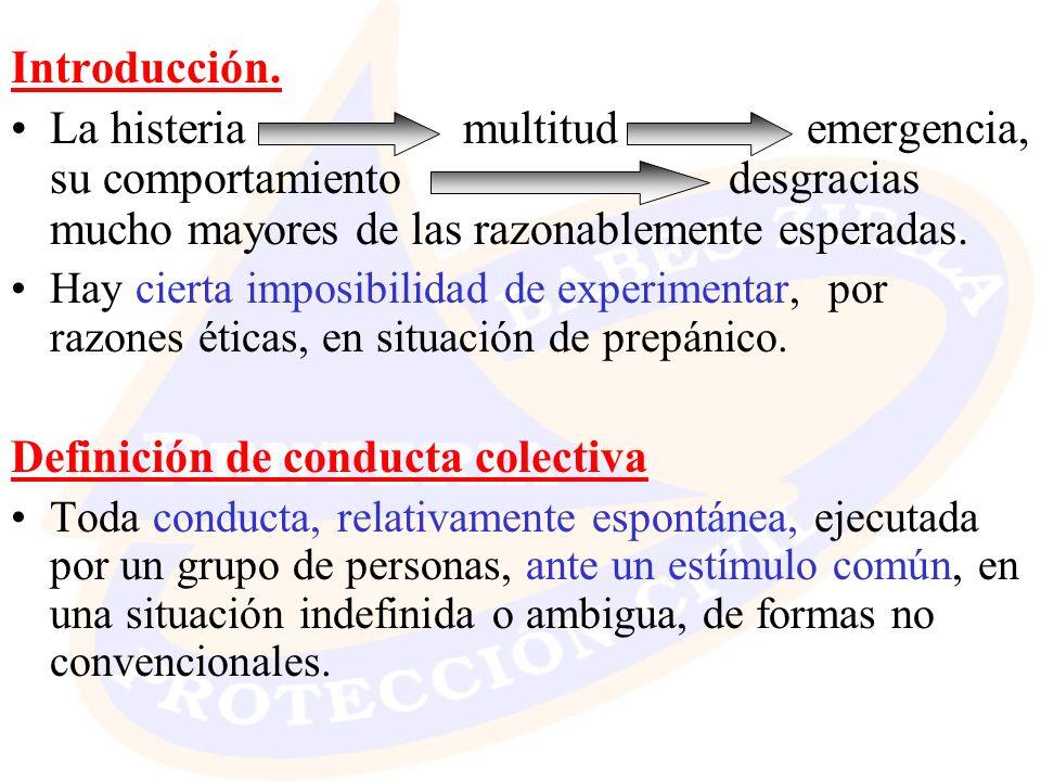 Definición de conducta colectiva