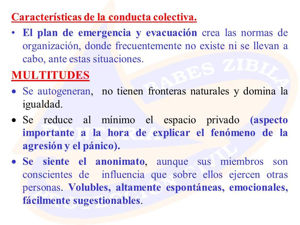 MULTITUDES Características de la conducta colectiva.