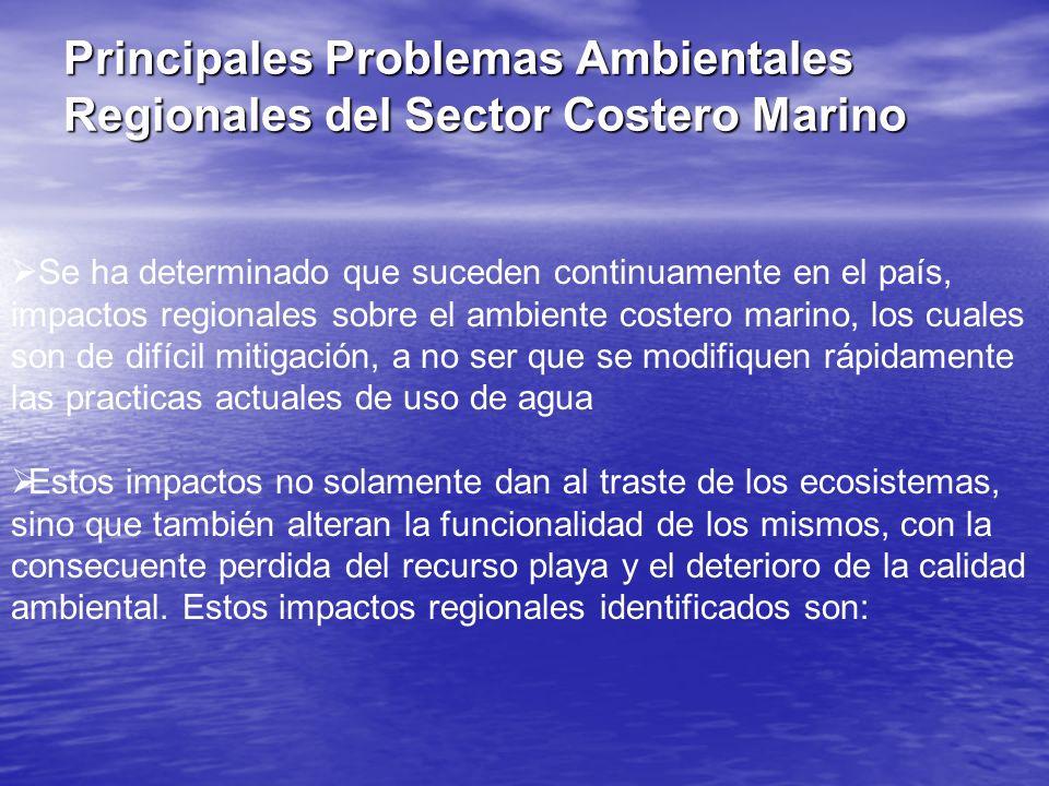 Principales Problemas Ambientales Regionales del Sector Costero Marino