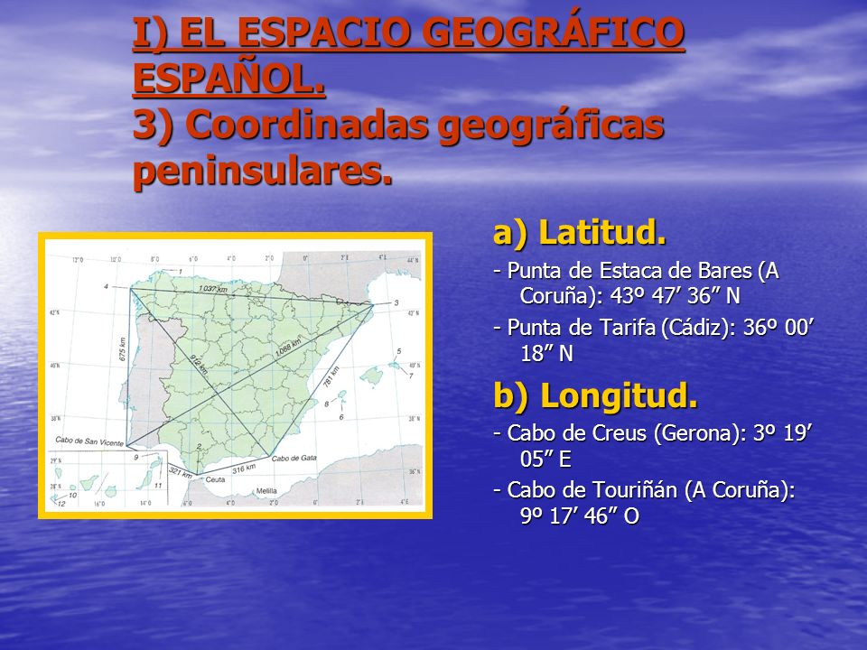 I) EL ESPACIO GEOGRÁFICO ESPAÑOL