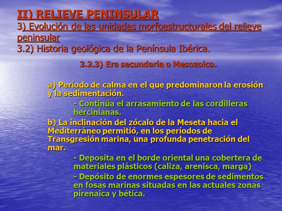 3.2.3) Era secundaria o Mesozoico.