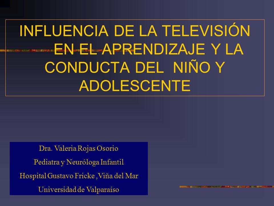 INFLUENCIA DE LA TELEVISIÓN
