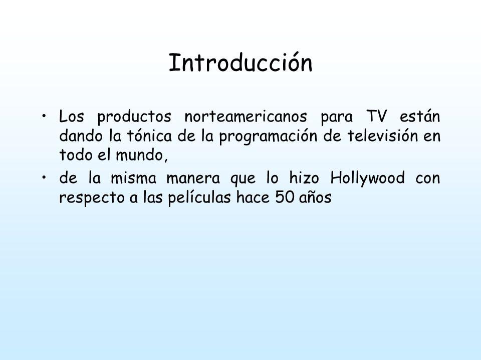 Introducción Los productos norteamericanos para TV están dando la tónica de la programación de televisión en todo el mundo,