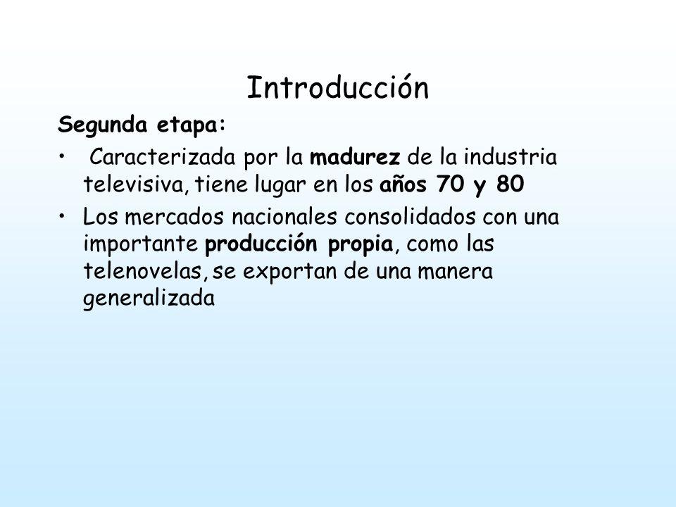 Introducción Segunda etapa: