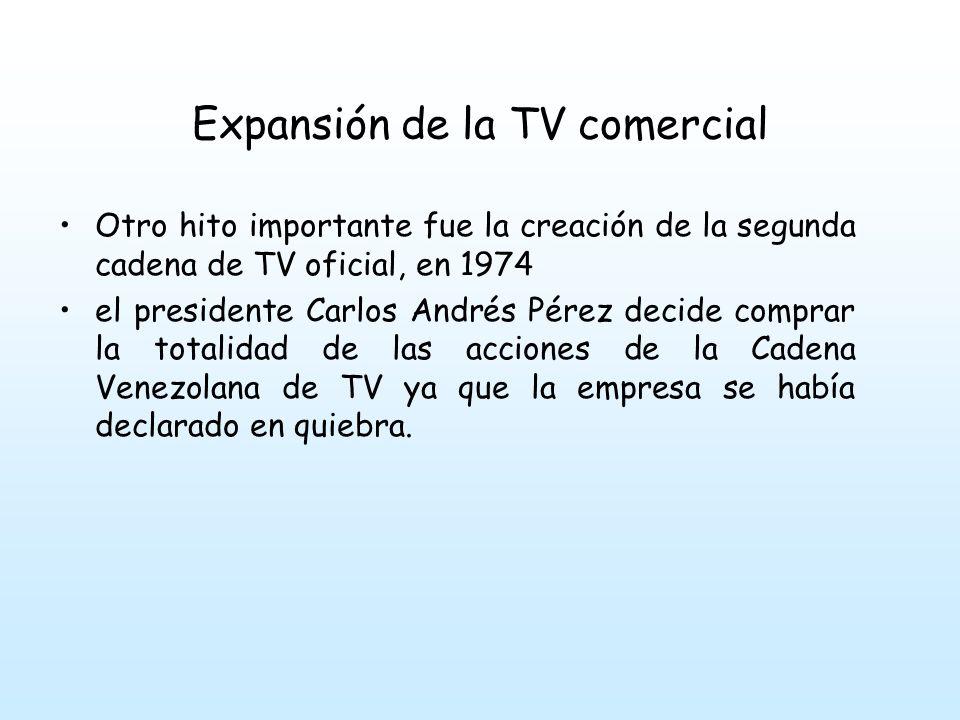 Expansión de la TV comercial