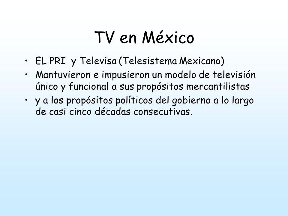 TV en México EL PRI y Televisa (Telesistema Mexicano)