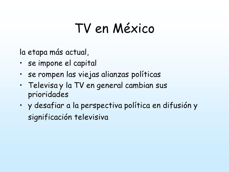 TV en México la etapa más actual, se impone el capital