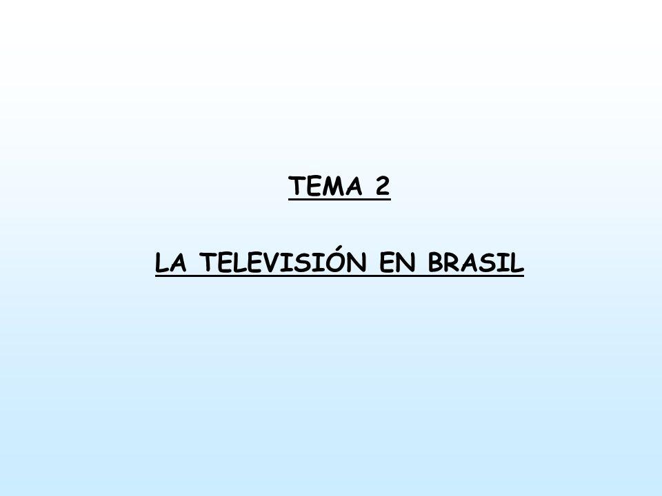 TEMA 2 LA TELEVISIÓN EN BRASIL