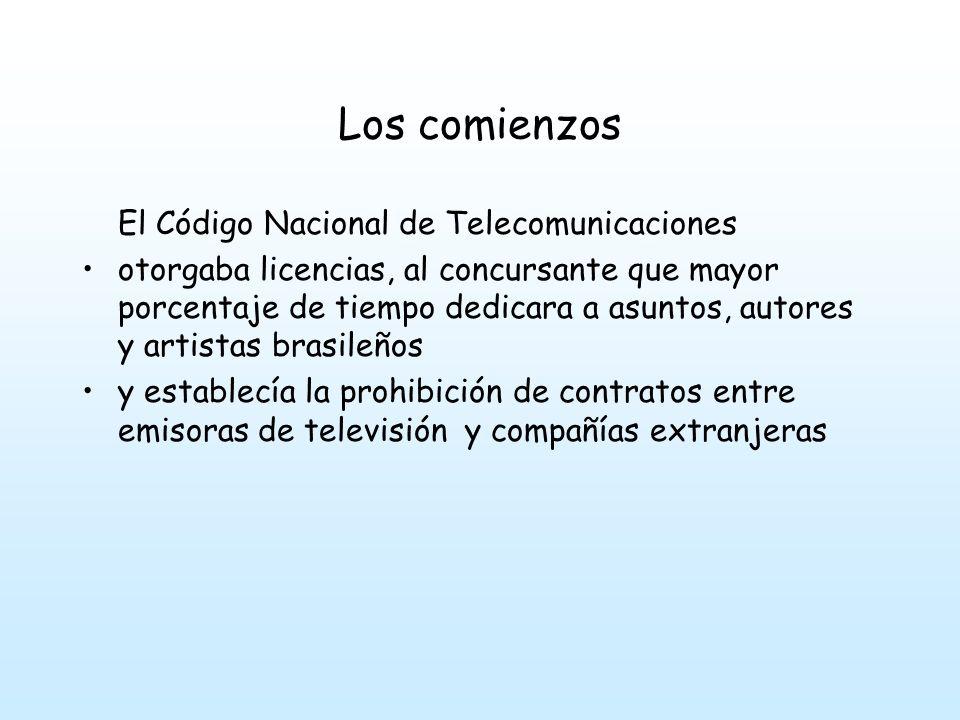 Los comienzos El Código Nacional de Telecomunicaciones