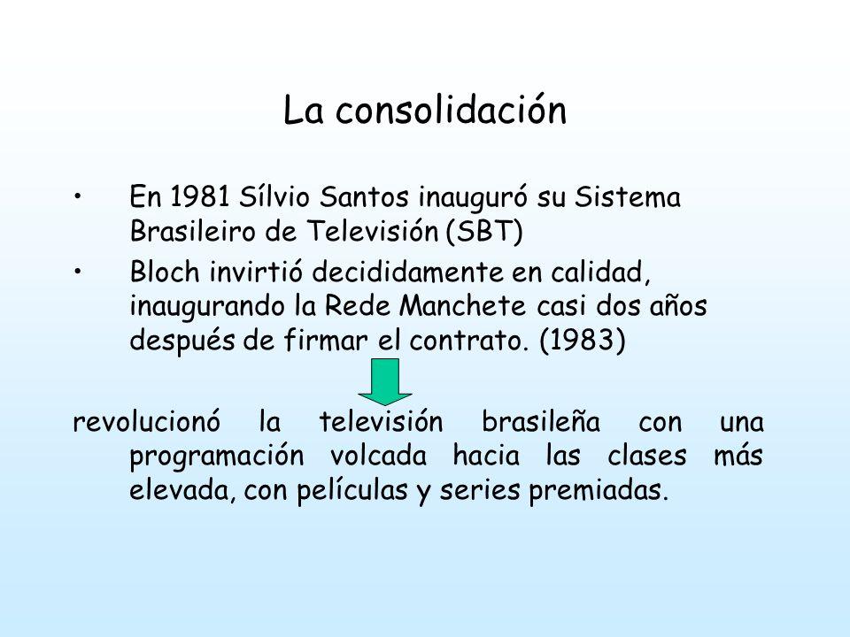 La consolidación En 1981 Sílvio Santos inauguró su Sistema Brasileiro de Televisión (SBT)