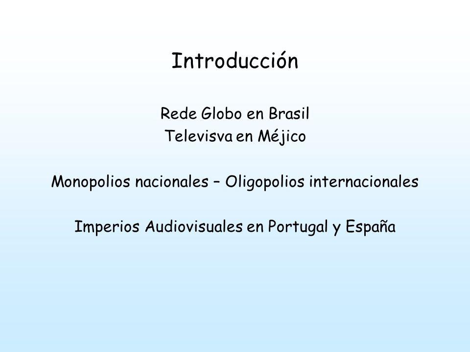 Introducción Rede Globo en Brasil Televisva en Méjico