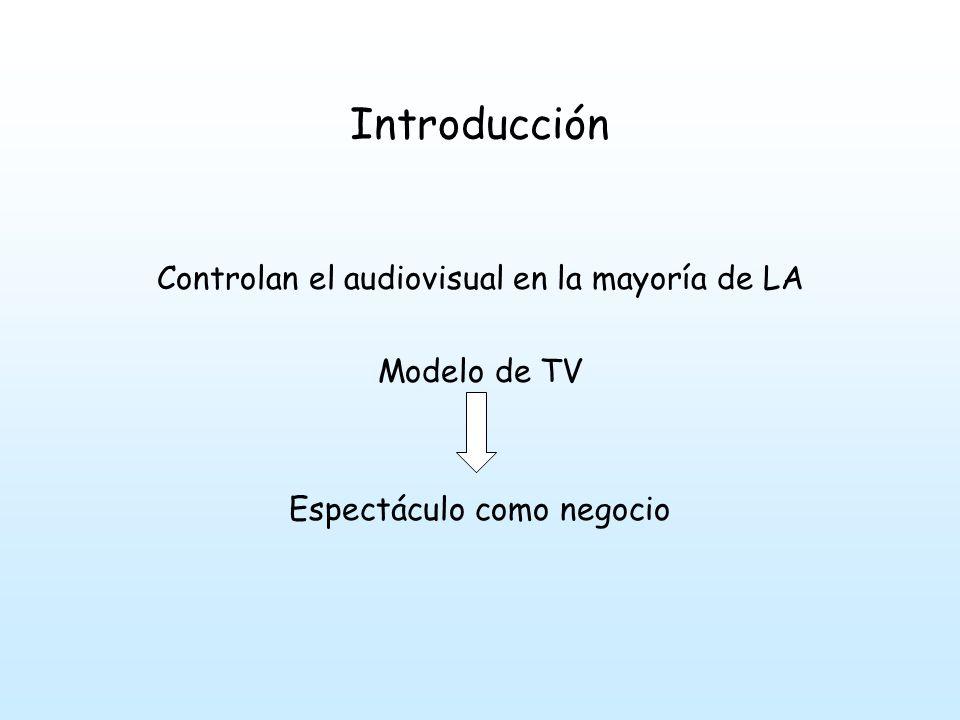 Introducción Controlan el audiovisual en la mayoría de LA Modelo de TV