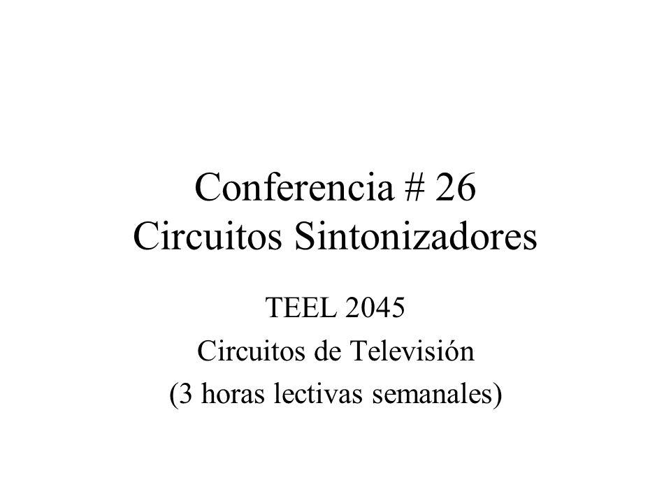 Conferencia # 26 Circuitos Sintonizadores