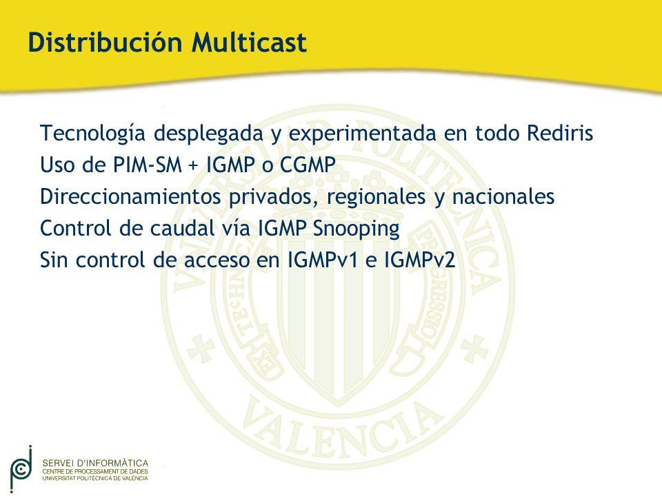 Distribución Multicast