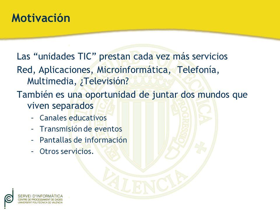 Motivación Las unidades TIC prestan cada vez más servicios