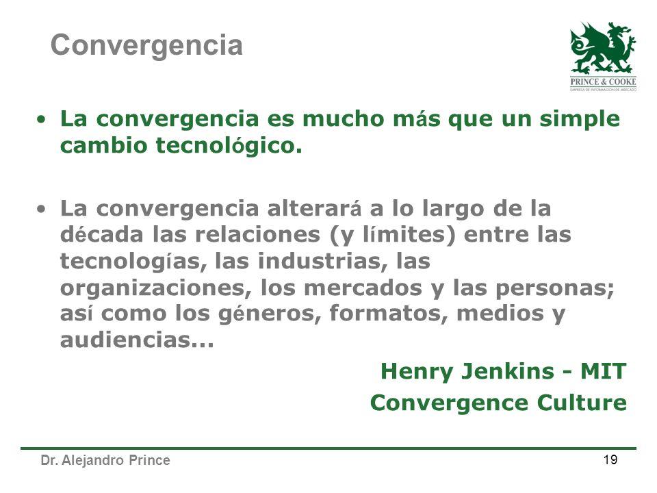 Convergencia La convergencia es mucho más que un simple cambio tecnológico.