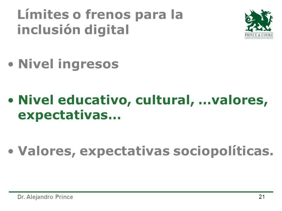 Límites o frenos para la inclusión digital