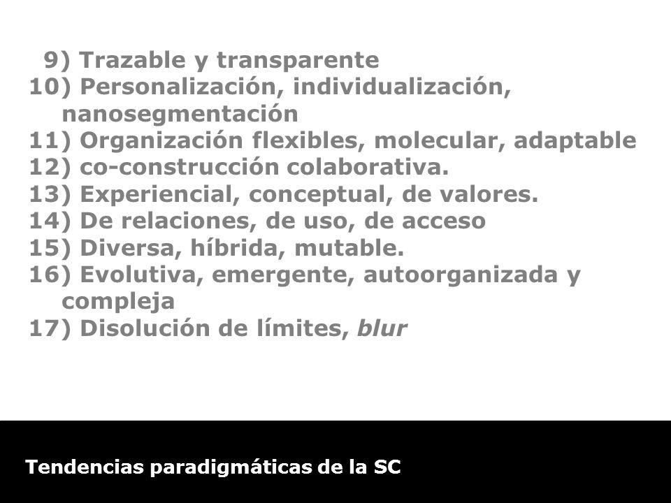 9) Trazable y transparente
