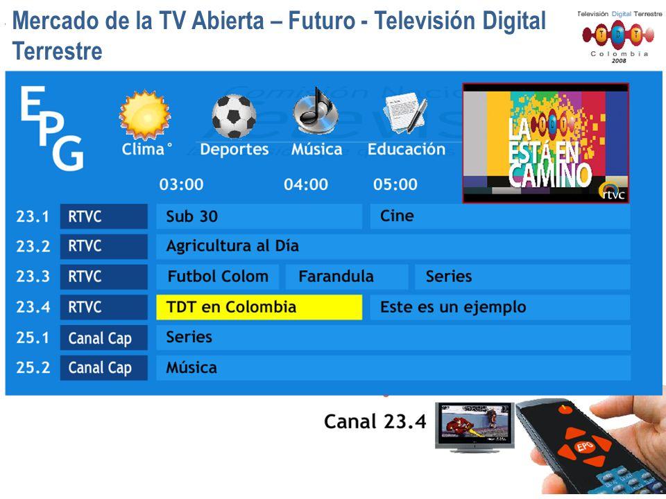 Mercado de la TV Abierta – Futuro - Televisión Digital Terrestre