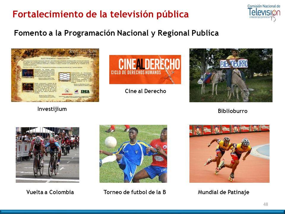 Fortalecimiento de la televisión pública