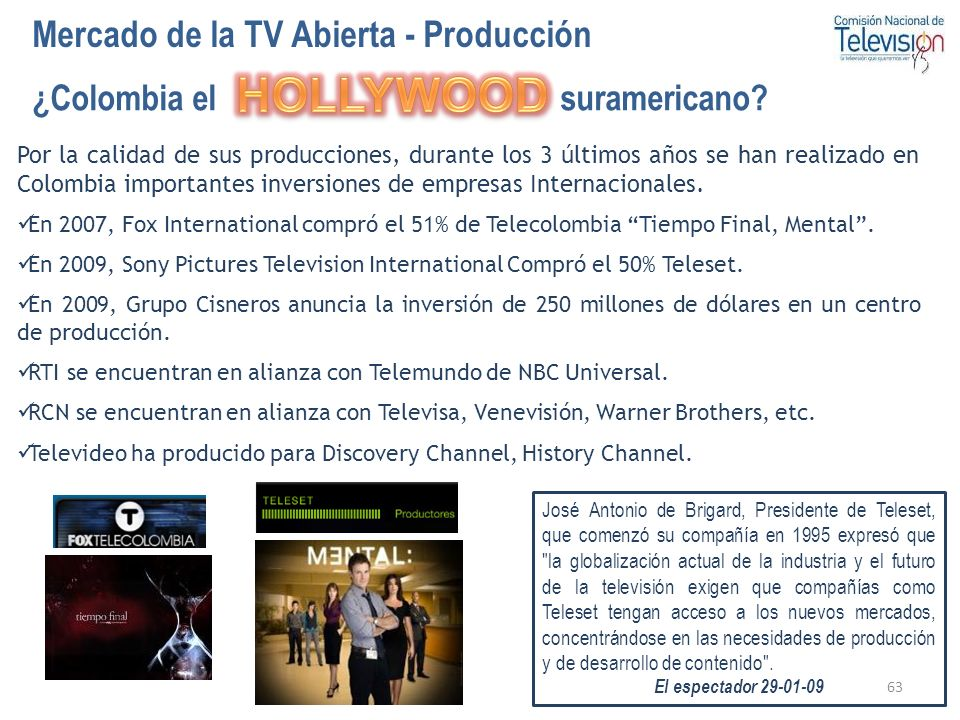 HOLLYWOOD Mercado de la TV Abierta - Producción