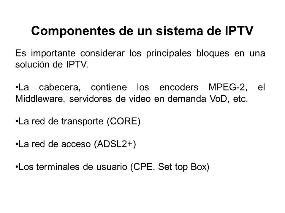 Componentes de un sistema de IPTV