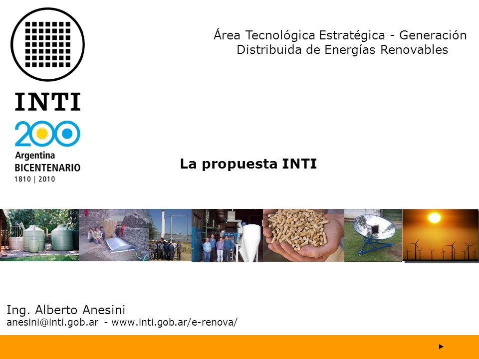 Ing. Alberto Anesini anesini@inti.gob.ar - www.inti.gob.ar/e-renova/
