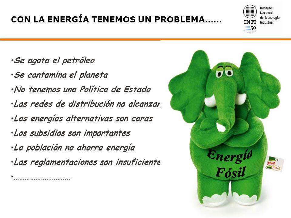 Energía Fósil CON LA ENERGÍA TENEMOS UN PROBLEMA……