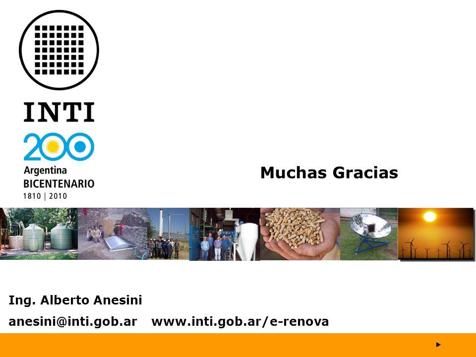 Muchas Gracias Ing. Alberto Anesini