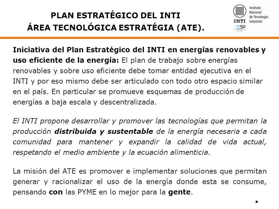 PLAN ESTRATÉGICO DEL INTI ÁREA TECNOLÓGICA ESTRATÉGIA (ATE).