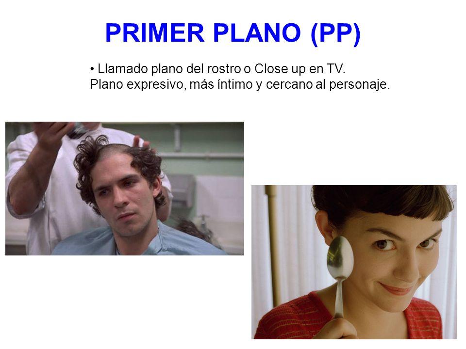 PRIMER PLANO (PP) Llamado plano del rostro o Close up en TV.