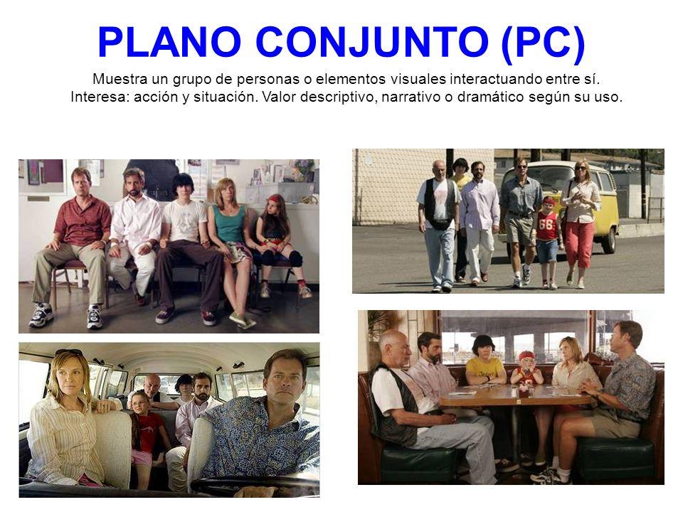 PLANO CONJUNTO (PC) Muestra un grupo de personas o elementos visuales interactuando entre sí.