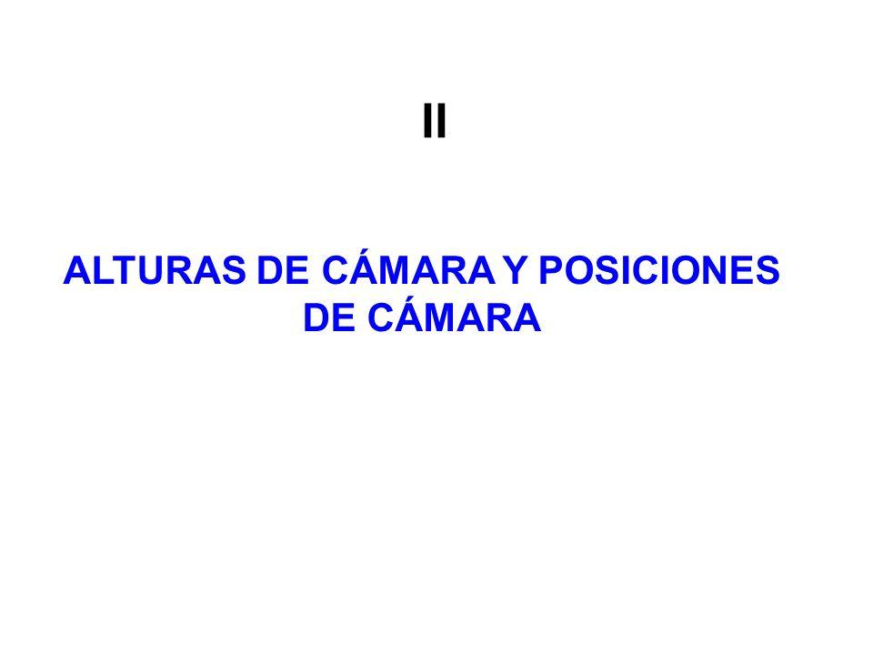 ALTURAS DE CÁMARA Y POSICIONES