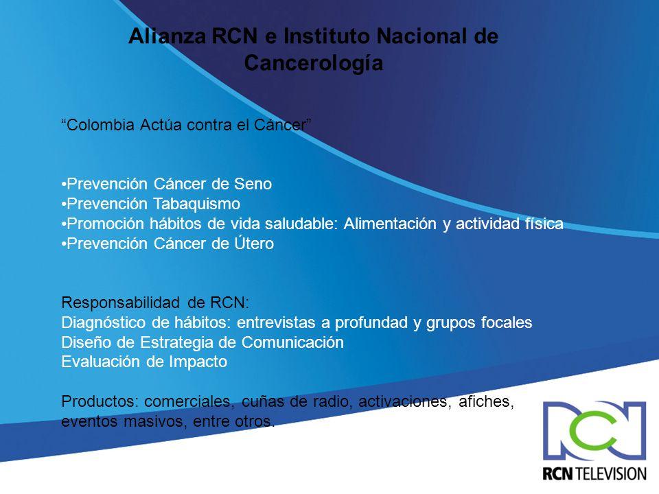 Alianza RCN e Instituto Nacional de Cancerología