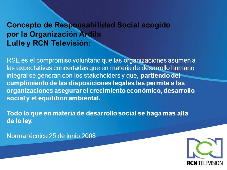 Concepto de Responsabilidad Social acogido por la Organización Ardila