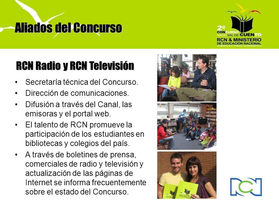Aliados del Concurso RCN Radio y RCN Televisión