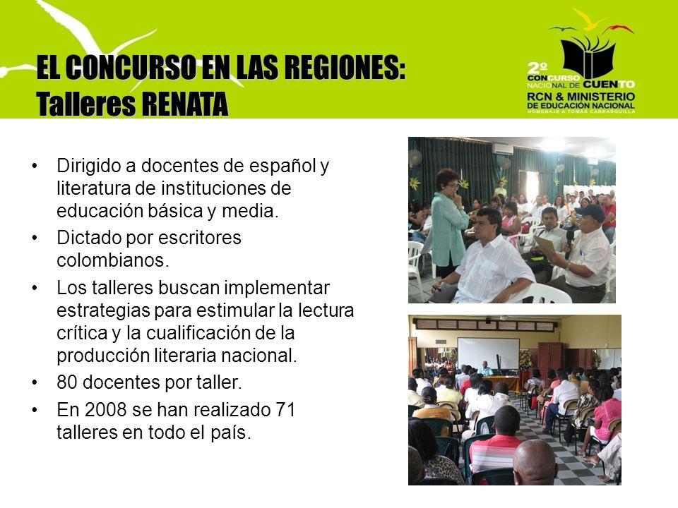 EL CONCURSO EN LAS REGIONES: Talleres RENATA