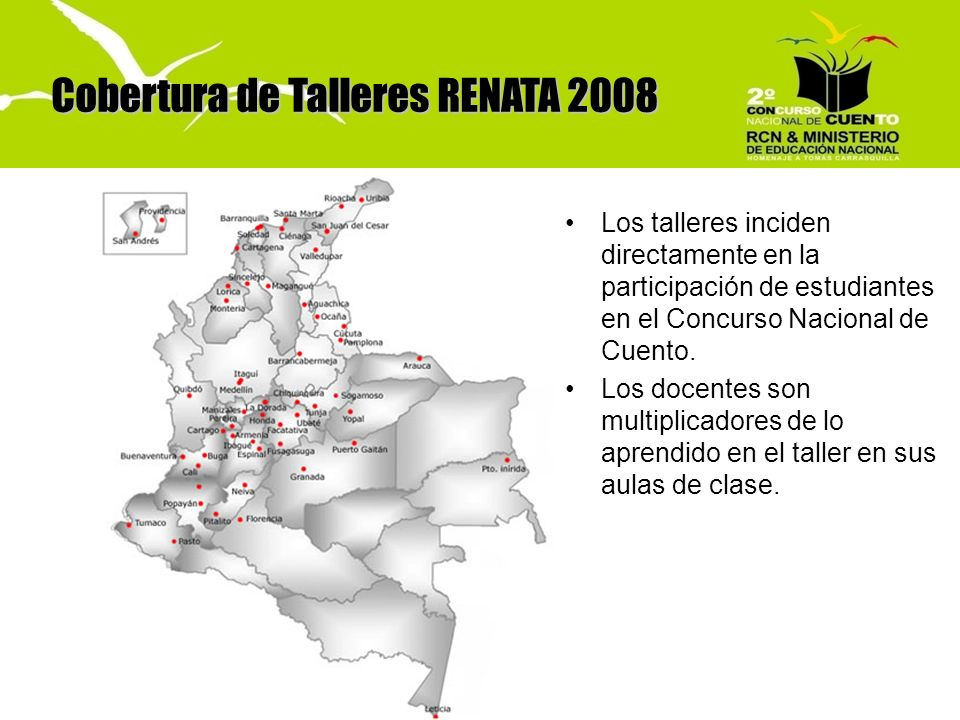 Cobertura de Talleres RENATA 2008