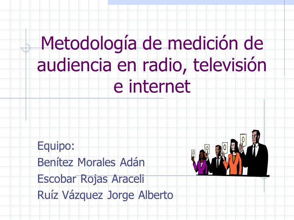 Metodología de medición de audiencia en radio, televisión e internet