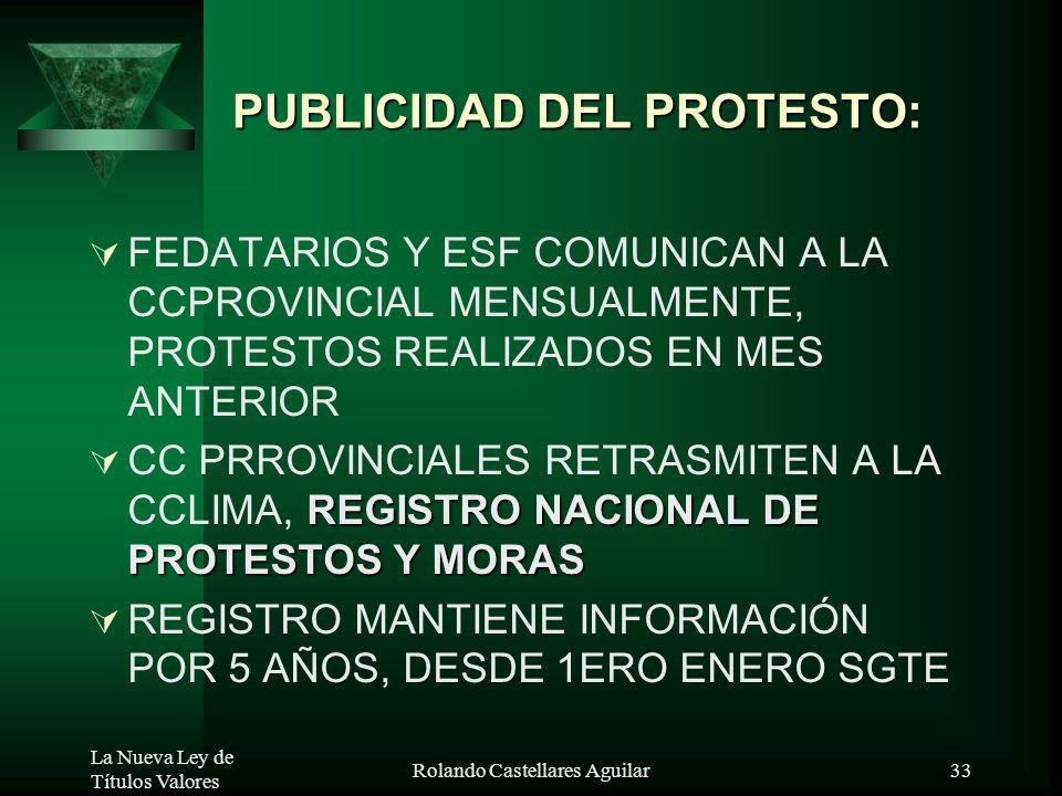 PUBLICIDAD DEL PROTESTO: