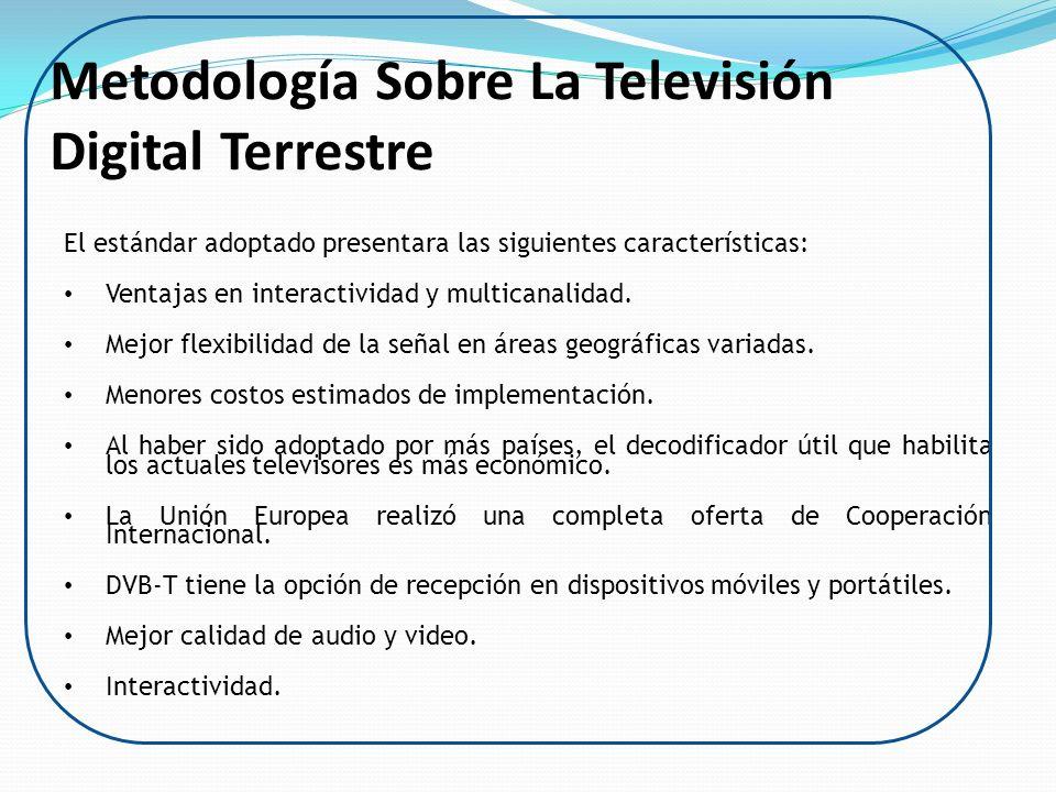 Metodología Sobre La Televisión Digital Terrestre