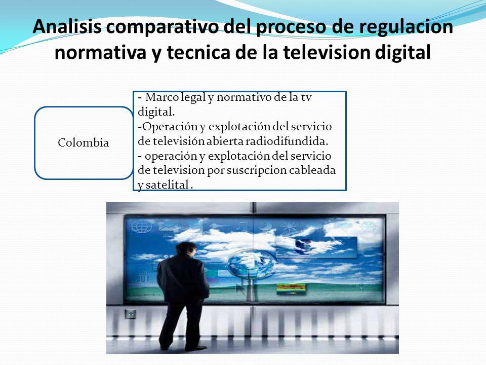 Analisis comparativo del proceso de regulacion normativa y tecnica de la television digital