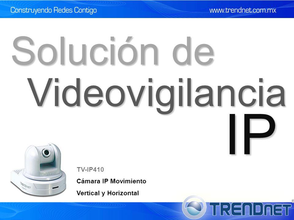 IP Solución de Videovigilancia TV-IP410 Cámara IP Movimiento